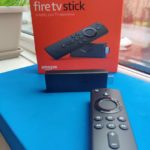 Amazon Fire TV 3rd gen on window