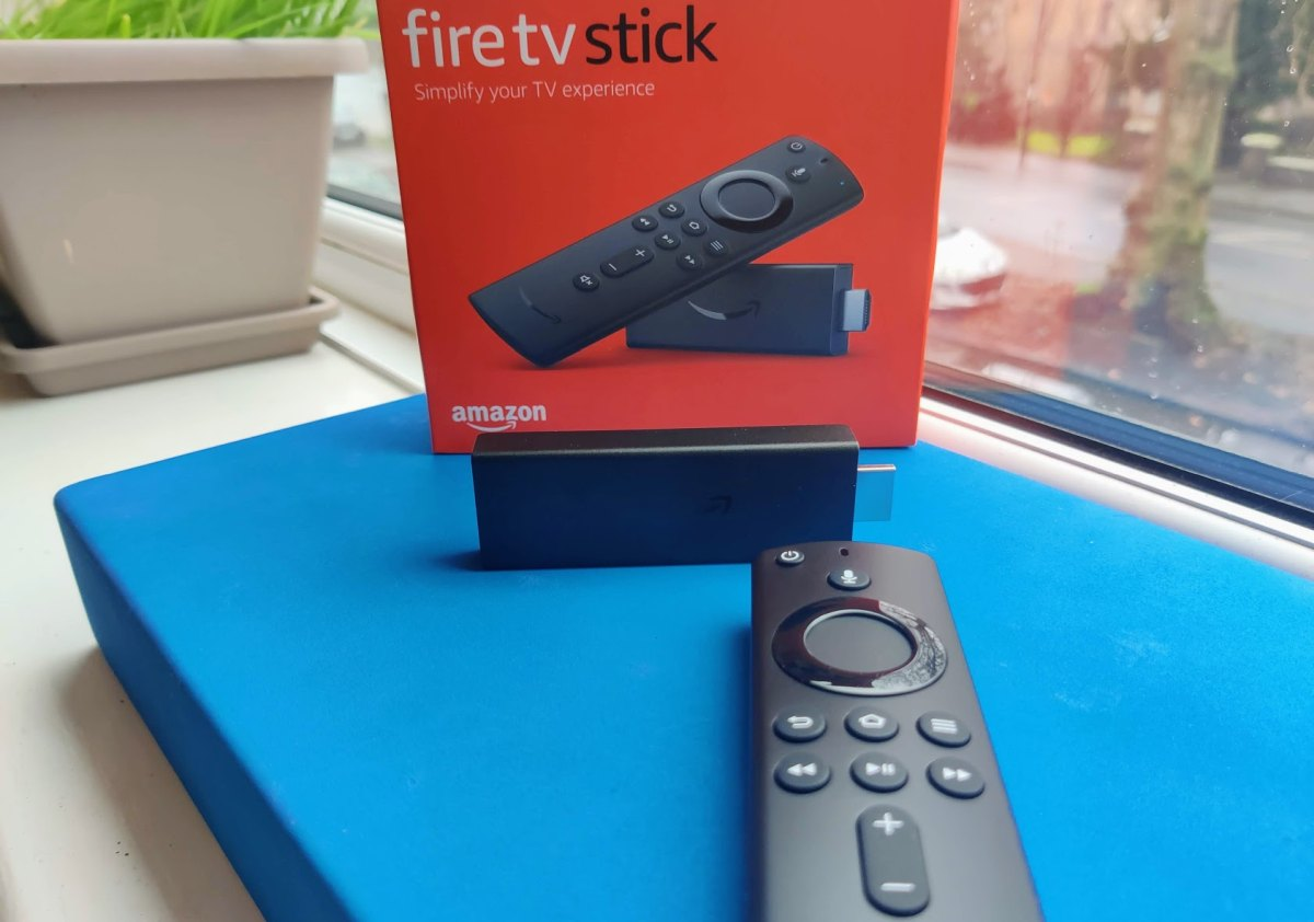 Amazon Fire TV 3rd gen on window