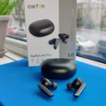 EarFun Air Pro earphones on window