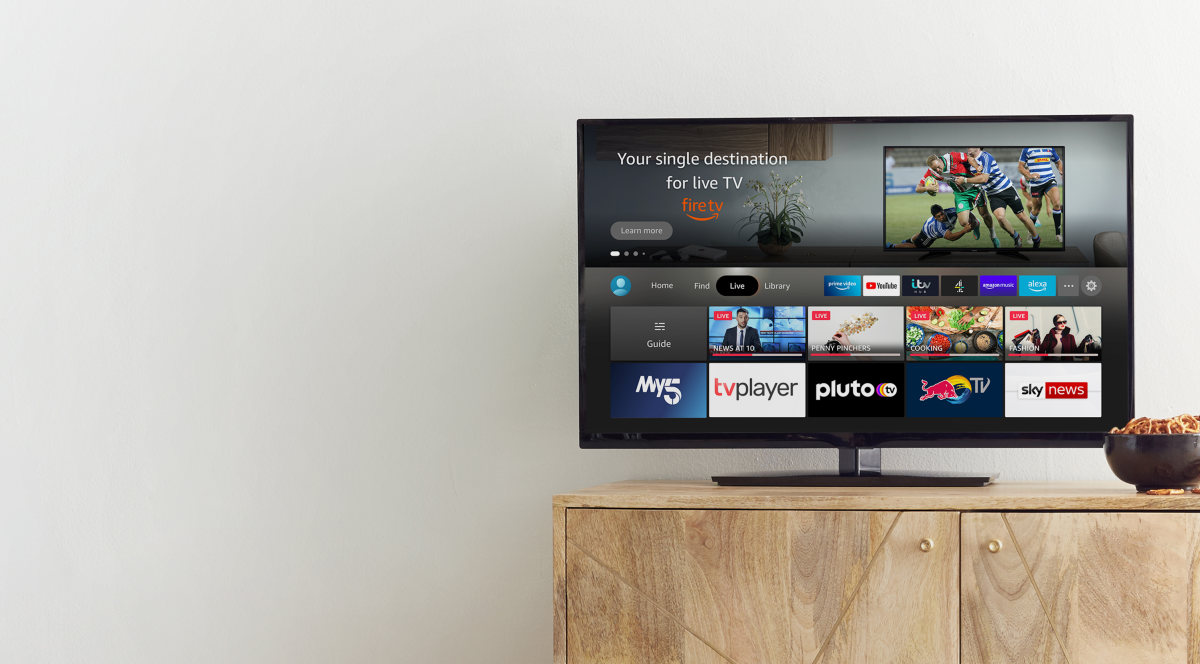 Fire TV Live TV tab