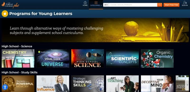 Great Courses plus screenshot