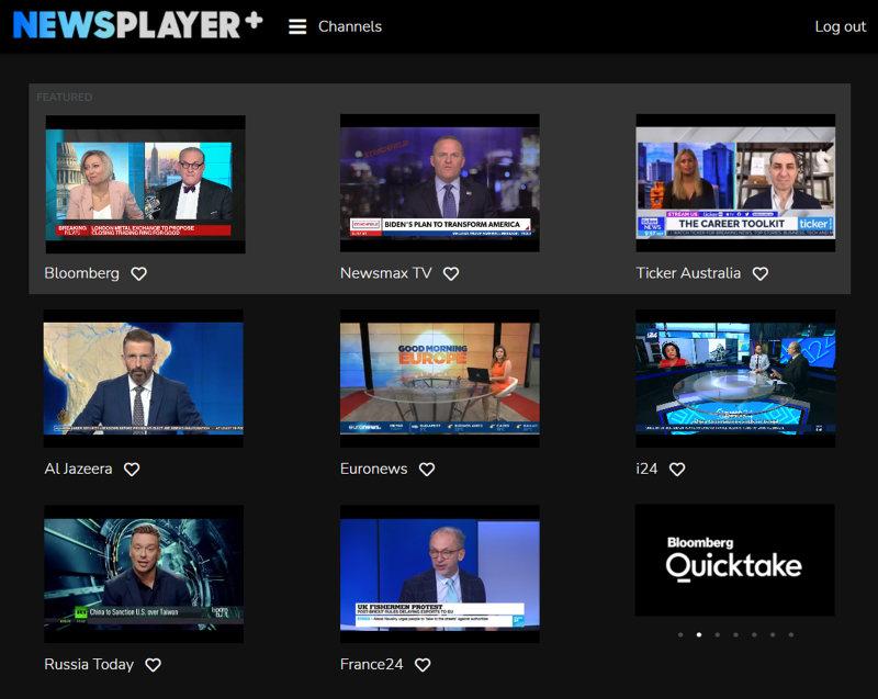 NewsPlayerPlus wall of news official