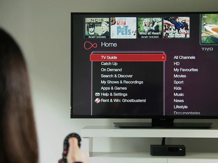 virgin media tv menu
