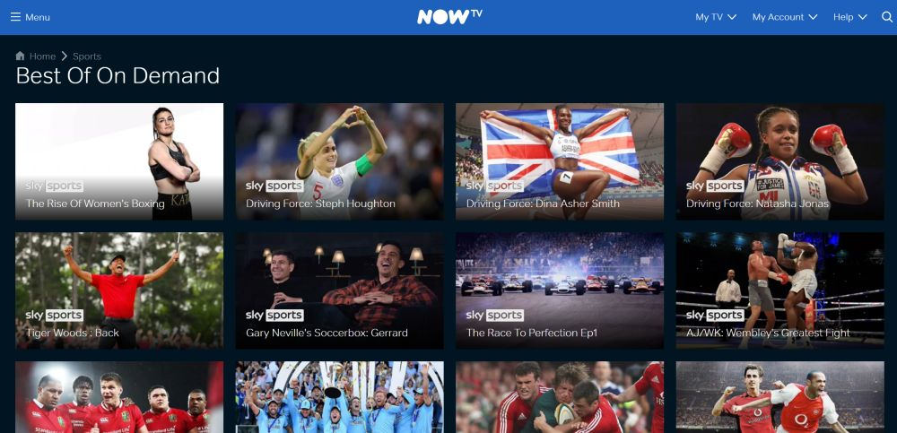 NOW TV On-demand sports best of