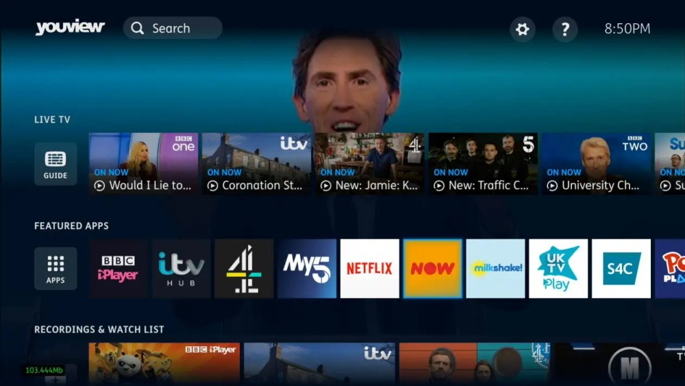 YouView new ui featured apps