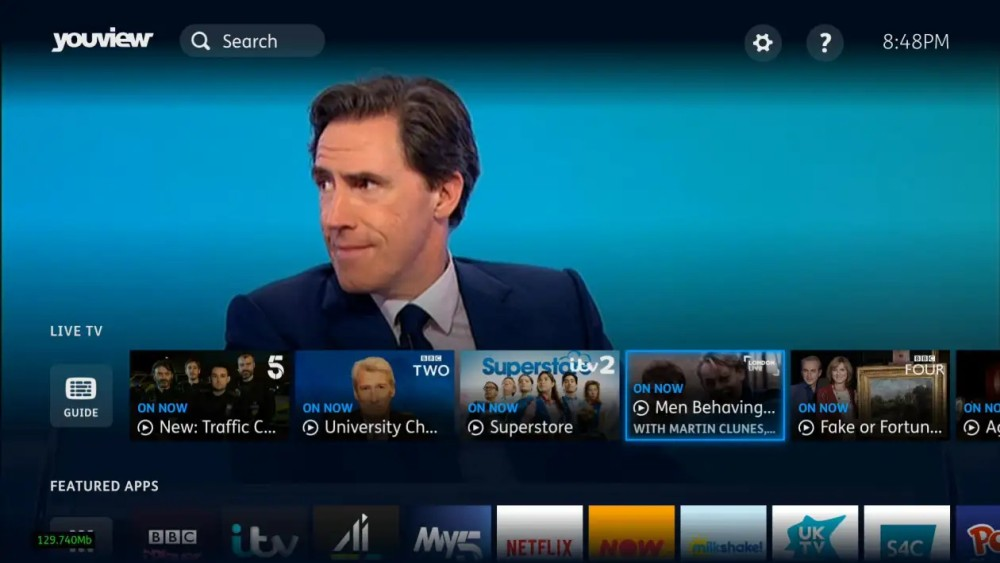 YouView new ui live tv