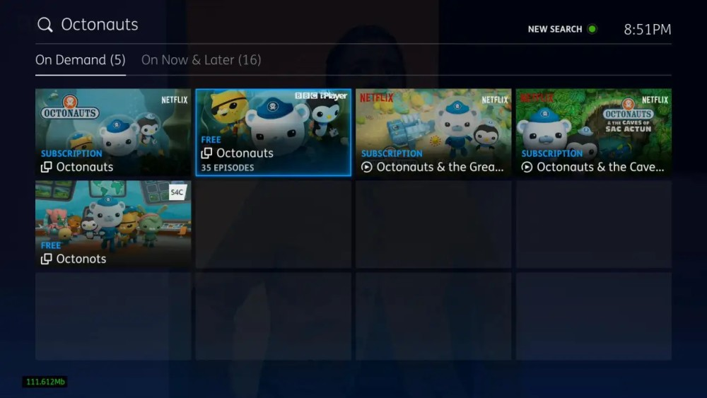 YouView new ui search