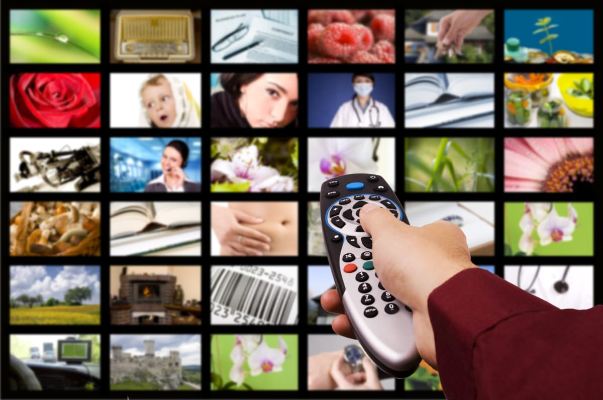 digital channels on TV remote control
