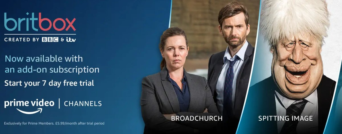 BritBox on prime video channels