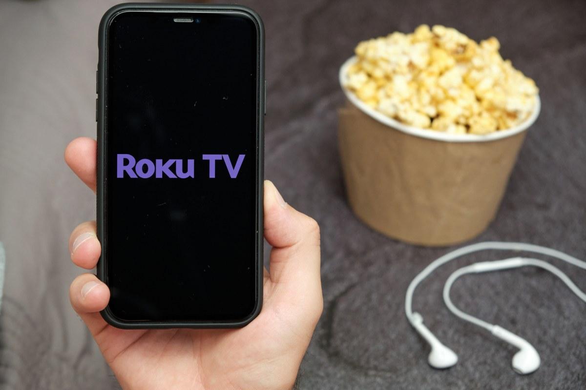 Roku TV logo on phone