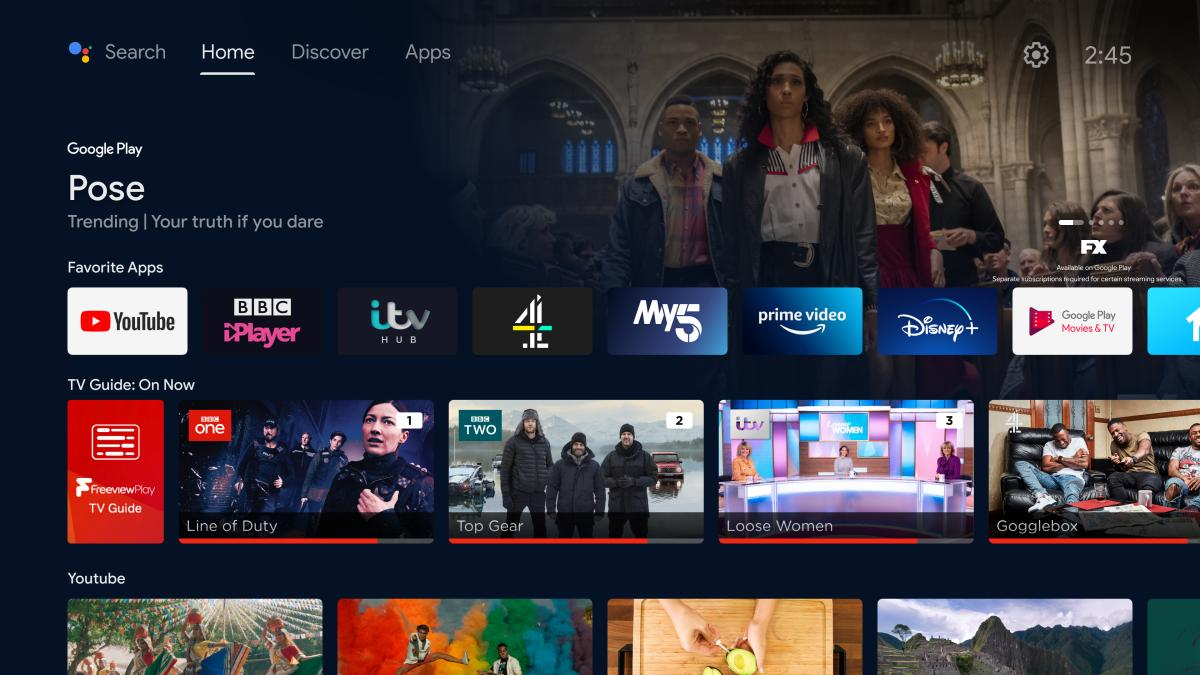 Freeview Play Android TV new version 1200