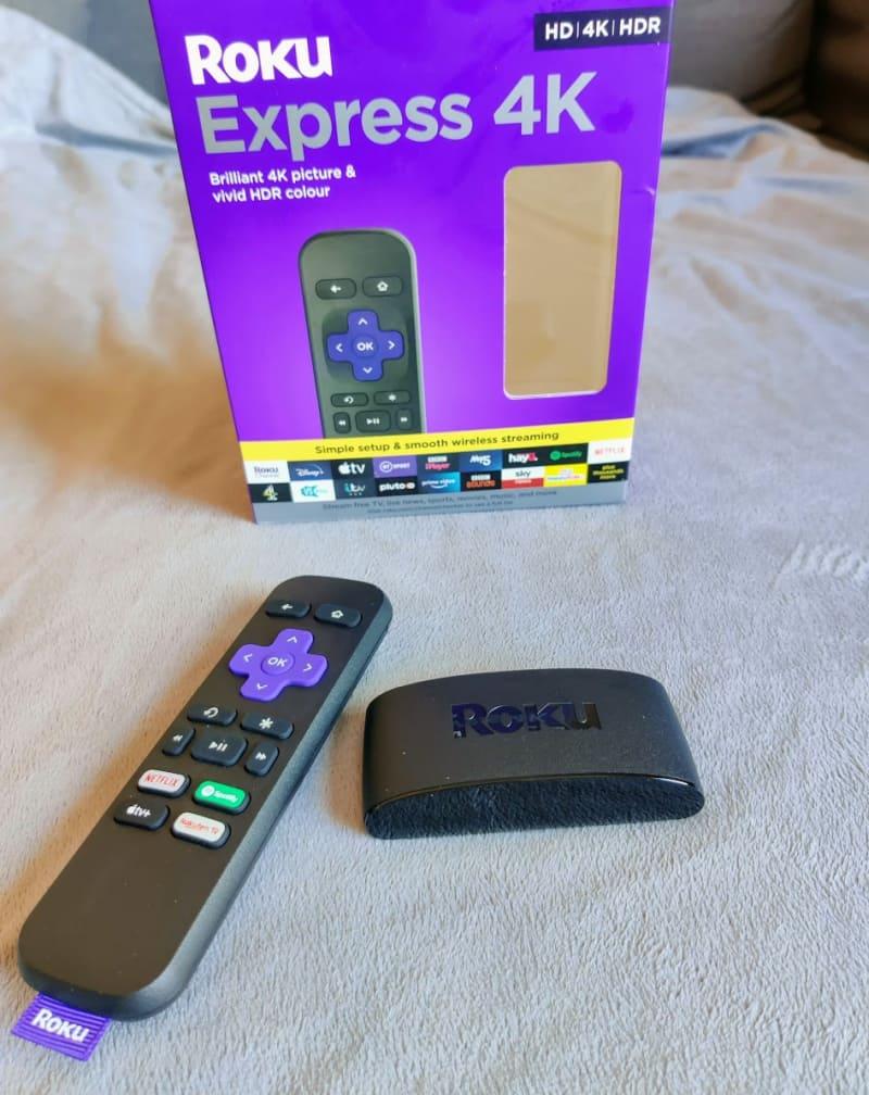 Roku Express 4K near box