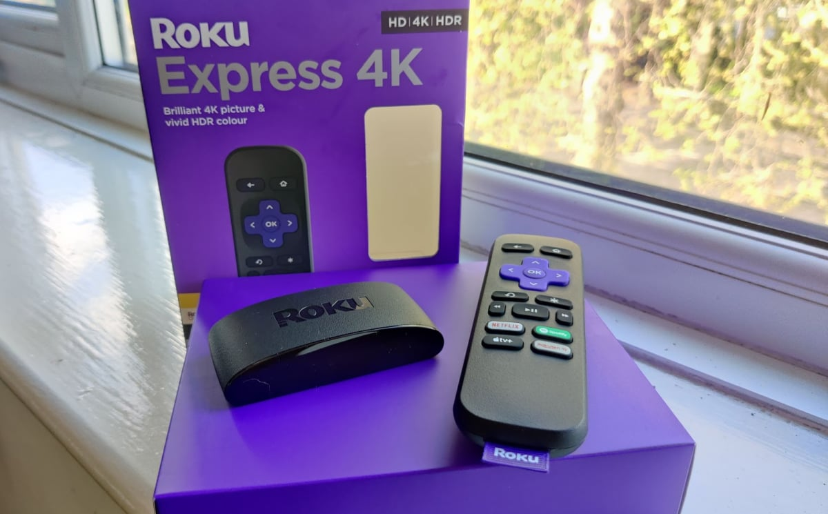 Roku Express 4K on window