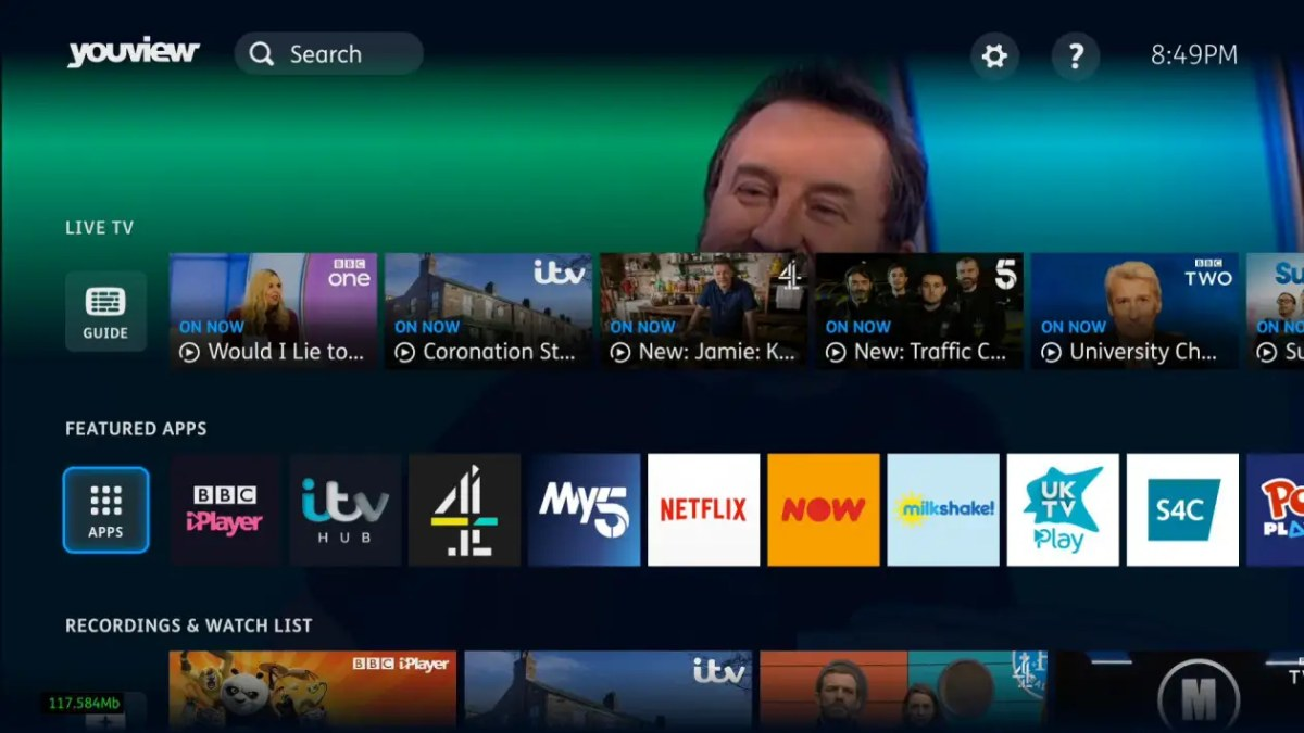 YouView new interface apps