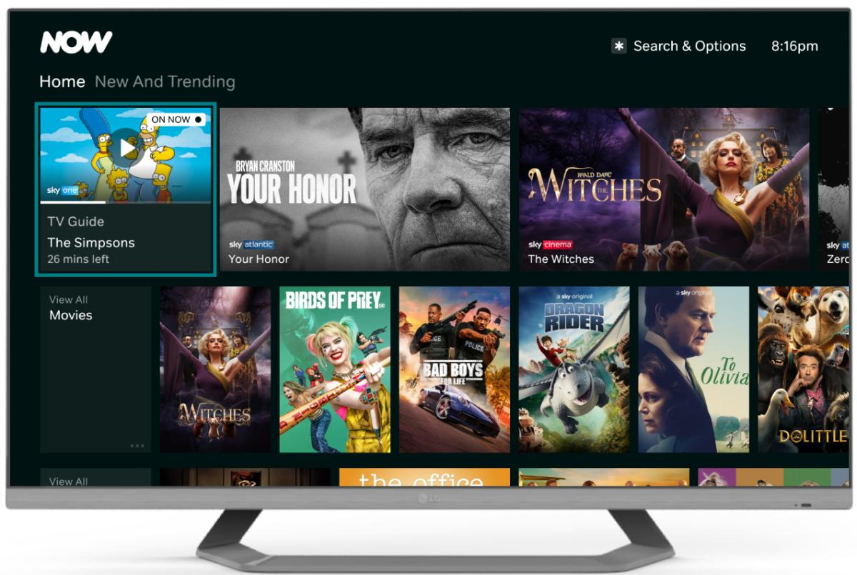 NOW Streaming new ui on tv