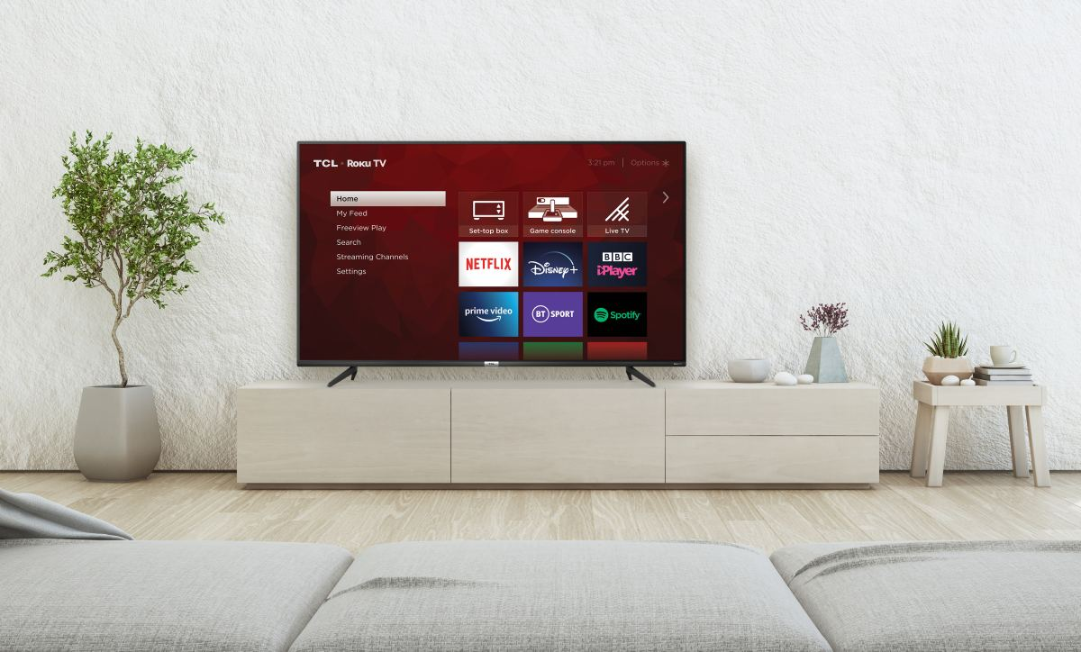 Roku TCL TV in living room official