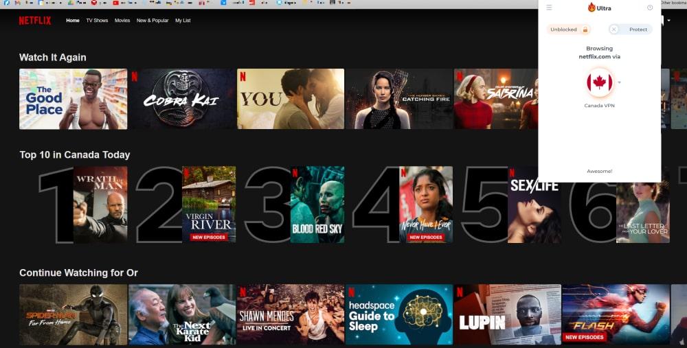 Netflix Canada with Hola