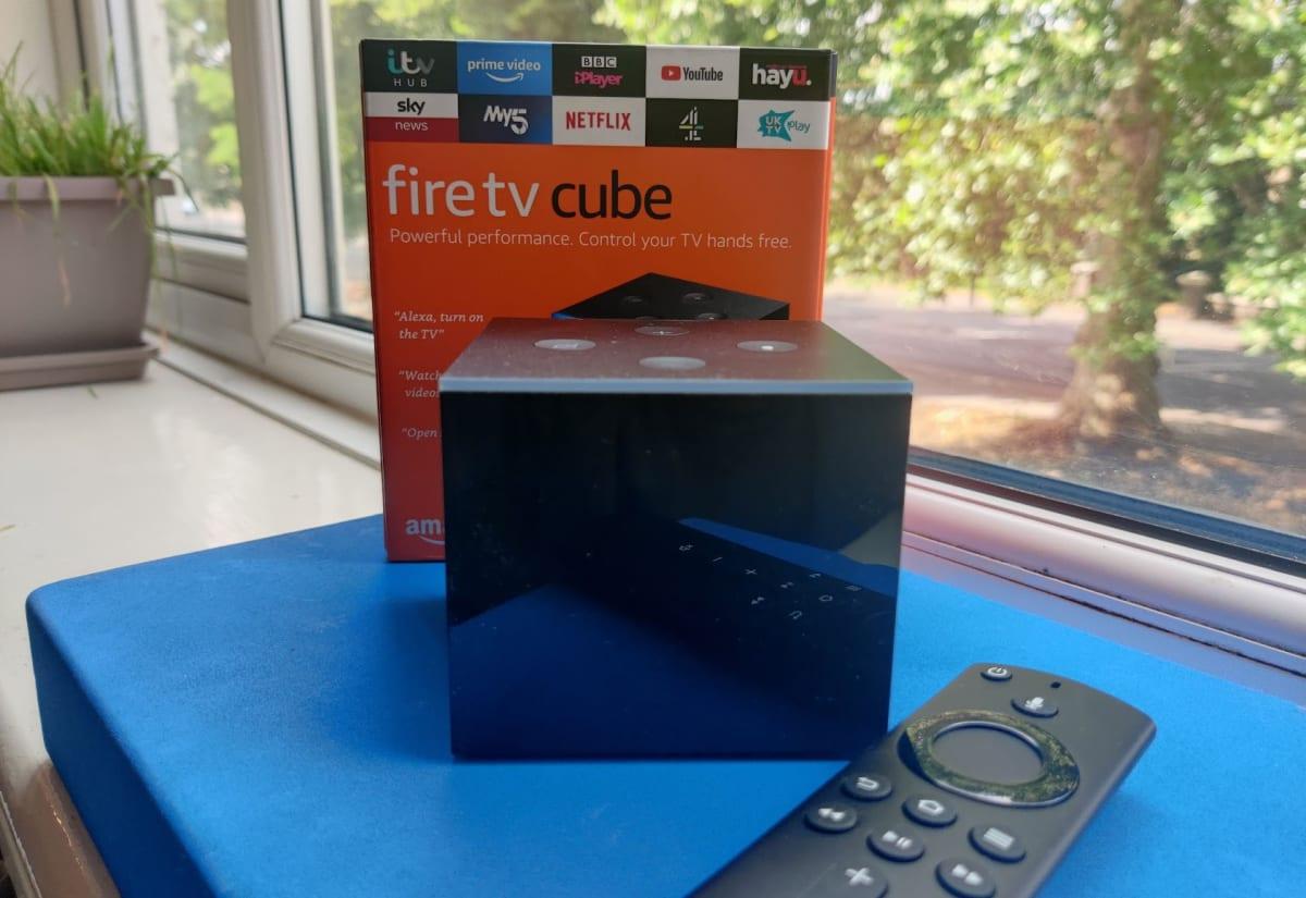 Fire TV Cube on window