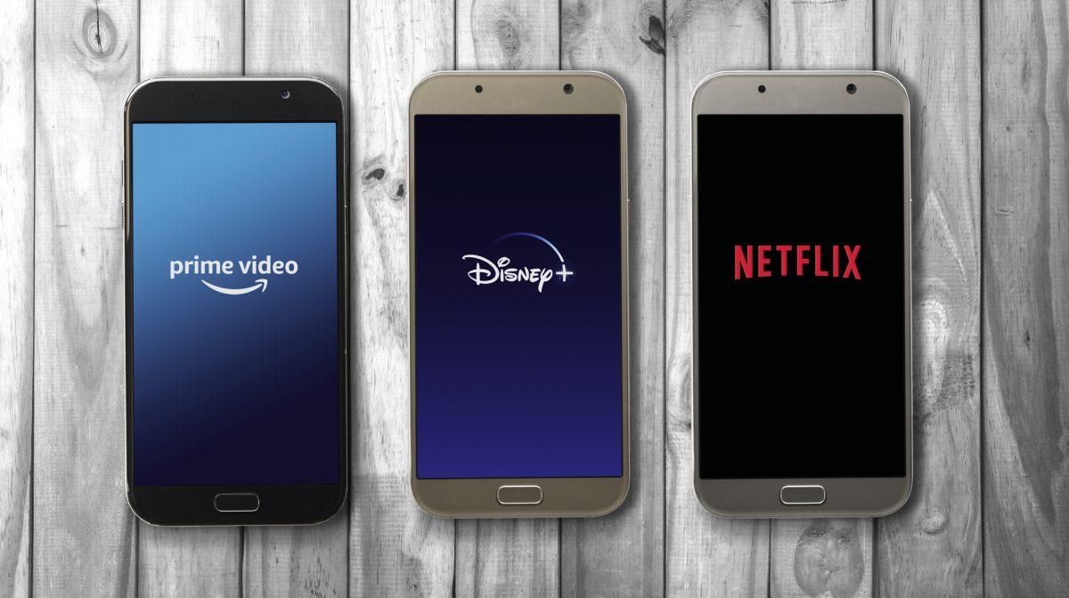 Streaming services on phone prime netflix disney 1200