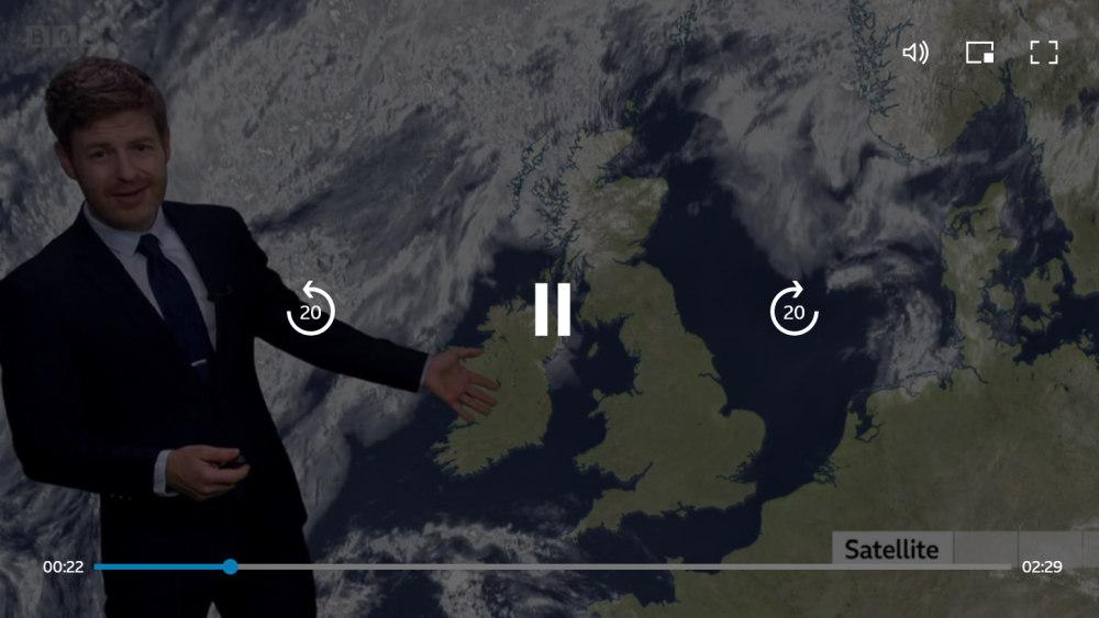 BBC Weather web new UI